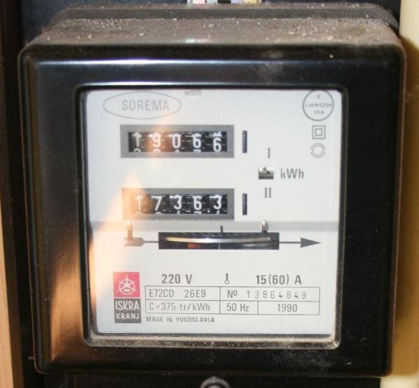 Kwh meter uitlezen